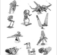 Wholesale 3D model star wars metal puzzle slave DIY Metallic Nano Snow Speeder assembly lase cut Model Kids Educational Toy DHL