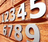 Wholesale Modern Siver House Door Address Number Digits Numeral Plate Plaque Sign Size x30x6mm Convinient Room Gate Number