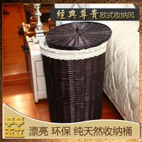willow basket - willow wicker large storage baskets box with pastoral lining fabrics rattan laundry basket barrels with a lid