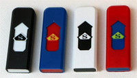 Wholesale USB lighter electric lighter wind proof lighter Rechargeable Cool farmless lighter with retail box