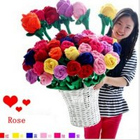 Wholesale 30cm Rose Flower Shape Curtain buckle Simulation Rose Valentine s Day married Gift