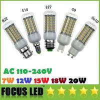 Wholesale 7W W W W Led Lights Lamp GU10 E27 B22 G9 smd Led Spot Bulbs Light AC V