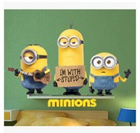 Wholesale 3D Wall Stickers Cartoon Despicable Me Removable Home Decor Decals Sticker Home Decor Art Kids Nursery Decor Christmas Gifts m960