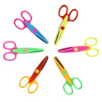 Wholesale Hot Sell Kids Scissors for DIY Photo Album Handmade Pattern Scissor for DIY Wave Stamps Decorative Top quality