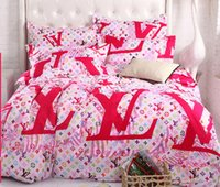 bedding sheet brands - Pink printing Brands bedding set bedclothes sets bedding article sheet quilt cover duvet cover pillowcase Full Queen King size