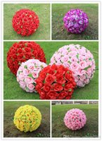 Wholesale New CM inch kissing Rose flower ball for the New Year festive Wedding Decorations bouquet