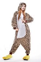 bear pajama - 2016 Cosplay Leopard bear Kigurumi Pajama No Shoes Pajamas Hooded Conjoined Sleepwear Costumes Adult Unisex Onesie Soft Sleepwear