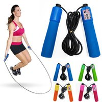 jump rope wholesale - 2015 Newest Arrivals Gym Digital Lcd Jump Skipping Rope Calorie Count Counter Timer Fitness M long Cx100