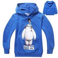 Wholesale Beast corps big hero six hoodie for children Kids Pure cotton wear clothes fleece