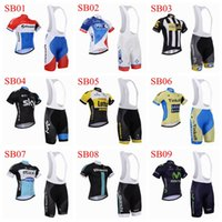 Wholesale 2015 newest GIANT FDJ MTN Sky Lotto white red and blue bicycle wear bike jersey bicycle jersey and mens xxxl cycling shorts in particular
