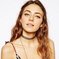 arm ring tattoos - Hot sale Fashion New Womens Line Tattoo Chocker Necklaces Trendy Bracelet Anklet Rings Thigh Arm chains Jewelry