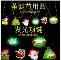 novelty gifts and toys - 2015 Unisex Animals Direct Selling New Novelty Twinkle Christmas Necklace Led Spark for Boys And Girls Toys Year Gift with Cartoon Pictures