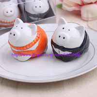 wedding souvenirs - 20sets new wedding favor ceramic pig Salt and Pepper Shakers bridal shower favor gifts best wedding guest souvenirs sets
