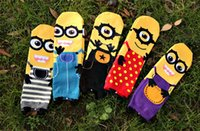 women cute socks - 2015 Minions Sock Winter Autumn Style Cute D Cartoon Despicable Me Cotton Socks for Adults Men Women Unisex Christmas Gifts pairs hot