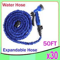 best hose nozzle - DHL Expandable Flexible Water Garden Hose hose flexible for water flowers Best quality with valve and Spray Nozzle FT ZY SG