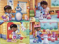 Wholesale 40pcs pack Doc Mcstuffins Puzzles Style For Choice Doc Mcstuffins Characters Pattern Children Education Games Toys For Kids Gift H0570