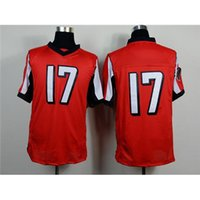 Cheap Red #17 Player Elite American Football Jerseys Team Football Jerseys Football Uniforms Cheap Football Wears Mens Sports Jerseys Fast Ship