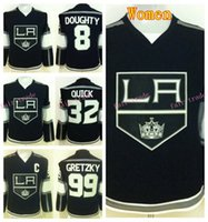 angeles girls - Women Drew Doughty Jerseys Los Angeles Kings Girl Hockey Jonathan Quick Wayne Gretzky Jersey Lady s Throwback Black