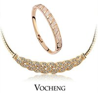 Wholesale Jewelry Sets Temptation colors with Cubic Zirconia Silver Gold Vs Vocheng Jewelry