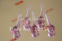 amethyst pendents - mm High Quality Amethyst glass chandelier raindrop crystal prisms pendents