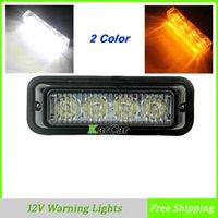 Precio de Emergency light-Venta caliente 4 LED Truck Luces de advertencia del coche auto del estroboscópico emergencia Beacon Light para el envío SUV Motocicleta Blanco / Ámbar 4W gratuito