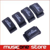 Wholesale 5PCS Alice A010CP Rubber Guitar Picks Plectrum Strings Holder Clamp Clip Black MU0668