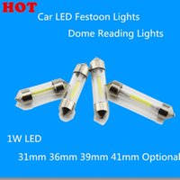 Wholesale 10Pcs New C5W COB Filament Glass Casing W Pure White mm mm mm mm Car LED Festoon Lights Dome Reading Lights