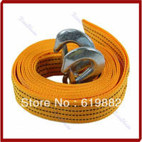 Wholesale New Hot M Ton Car Tow Cable Heavy Duty Towing Pull Rope Strap Hooks Van Road Recovery