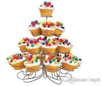 Wholesale 2015 Sale Diy Tier Cupcake Stands Hold Cupcakes Great for Party Centerpiece Christmas Tree Style x Layers X Center Rods x Wrench