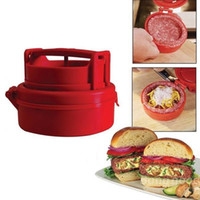 Wholesale Stufz red color plastic hamburger press DIY hamburger patties mold great hamburger presses patties maker