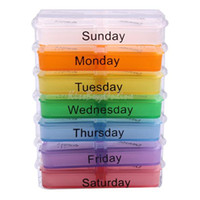 Cheap Medicine Weekly Storage Pill 7 Day Tablet Sorter Box Container Case Organizer K5