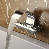 Wholesale Freeshipping B R Luxury Brass Chromed Two handle single holefaucet for bathroom faucet tap bathroom waterfall BR C