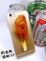 apple barbecue - 2016 new arrival barbecue series roast chicken corn shrimp phone cases for iPhone mobile phone pc phone cover