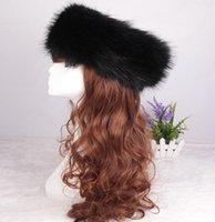 Wholesale 50PCS LJJH695 New Arrivals Ladies Women Men Faux Fox Fur Russian Cossack Style Hats Caps Winter Ski Headband