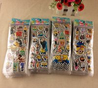 bedroom toys - Despicable Me minion stickers for children classic toys D cartoon kids stickers party gift LJJH250 SET