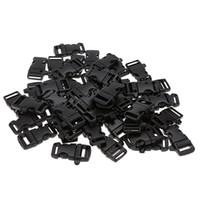 Wholesale 50pcs Plastic Whistle Quick Release Buckles for Paracord Bracelets Webbing Straps Outdoor Camping Emergency Size L
