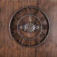 Wholesale Round Quartz Wall Clocks Decor Metal Material Bronze D Classical Europe Antique Style Handicraft Ring Clocks Reloj GZ16002