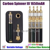 Wholesale Vision Spinner III Carbon spinner Electronic Cigarette Kits Vision Spinner mAh new Variable Voltage Battery Atomizer E Cigarette Kit