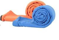 Wholesale Double Antipilling Fleece Sleeping Bag Outdoor Camping Envelope Style Fleece Sleeping Bag Portable Sleeping Bag Liner