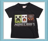 Wholesale 50pcs styles Minecraft Creeper Game funny T shirt women men a t shirt short sleeve short sleeves BOYS cotton sweethearts outfit clothes