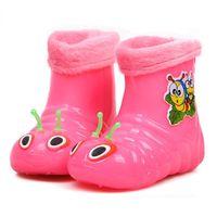 Wholesale 2015 Caterpillar kids shoes children rain boots kids boots winter for boys and girls children snow rain boots cottonpadded warm shoes
