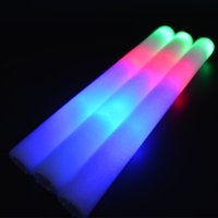Wholesale Light Up Foam Sticks LED Multi Color Changing Rave Baton Party Wand Children Day Christmas Wedding Decor