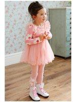 Cheap baby girl kids lace legging pants tights Jeans crochet embroidery flower floral tutu pants leggings cotton pajamas PJ'S rosette bowknot