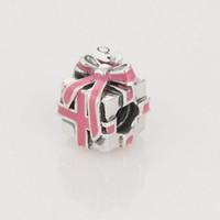 achat en gros de ruban pandora-925 Boucles d'oreille en argent sterling, rose, chapelet, pendentif, boucles d'oreilles