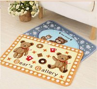bear rug - 10pcs carpets rugs Factory outlets Korea Teddy Bear bathroom Living slip mats doormat mat floor mats