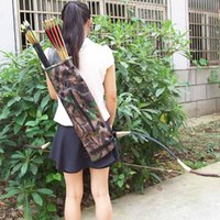 archery supplies arrows - Waterproof Ultralight Bundled Processing Leaves Camouflage Bionic Camo Bow Bag Pouch Arrow Quiver Archery Supplies