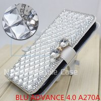 advanced metal sales - hot sale D Luxury Bling for BLU ADVANCE A270A case Flip Bling leahter skin bag mobile phone case cover Diamond crystal holder wallet