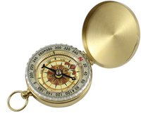 Wholesale Luminous Brass Pocket copper Compass Watch Vintage Antique Style Camping Hiking Compass Navigation Outdoor Gear HHA50