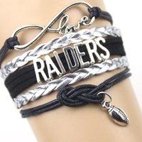 american raiders - Raiders Football Team BENGALS Bracelet Customize Oakland Sport wristband friendship Bracelets great quality styles in stock