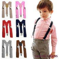 Wholesale Hot Lovely Kids Suspender Elastic Adjustable Clip On Braces for children s comfortablity